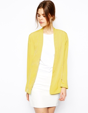 Asos blazer in longline with lapel detail
