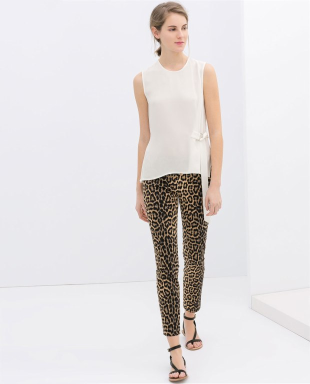 Leopard pant - Zara